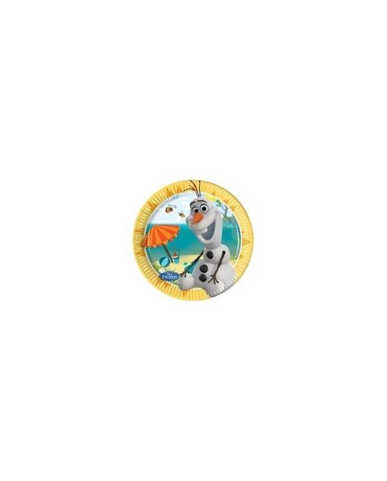 Tanieriky s motívom Olaf- Ľadové kráľovstvo 20 cm - 8 ks/P127