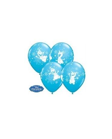 Latexové balóniky Olaf - Ľadové kráľovstvo 30cm 10ks - bledomodré/P40
