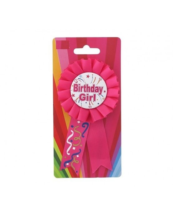 Brošňa Birthday girl - ružová
