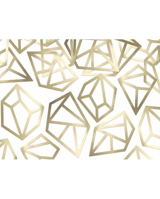 Konfety zlaté kryštály 5ks