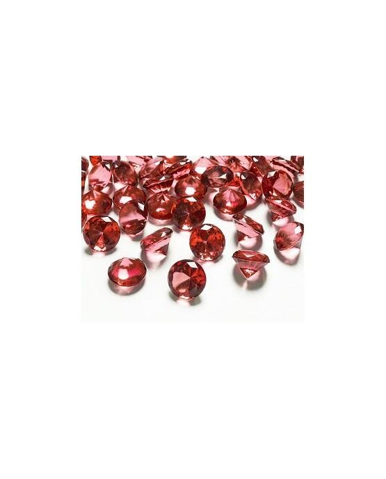 Konfety - červené diamanty 20mm 10ks