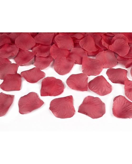 Konfety - bordové lupene ruží 80cm 1ks