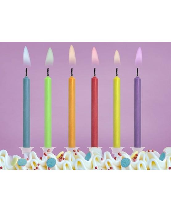 Magické sviečky - rôznofarebné plamene 6ks