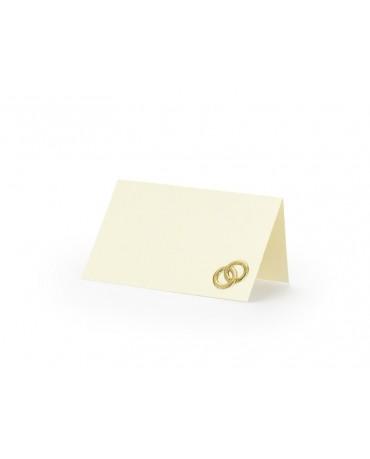 Menovky na stôl -zlaté obrúčky 25ks