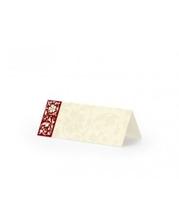 Menovky na stôl -červený pásik 25ks