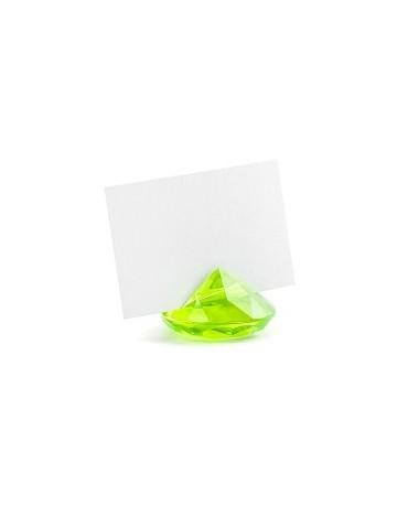 Stojan na menovky- diamant - zelený 10ks