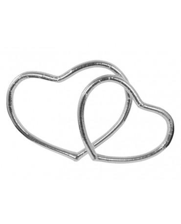 Metalické srdce - strieborné 2ks