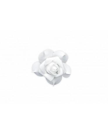 Ozdoba na auto -kvet - biely 9ks