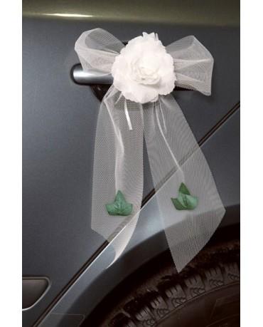 Ozdoba na kľučky-kvet - biely 4ks