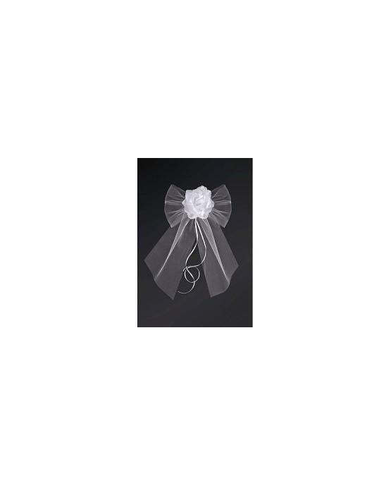 Dekor. na kľučky-kvet - biely 2ks
