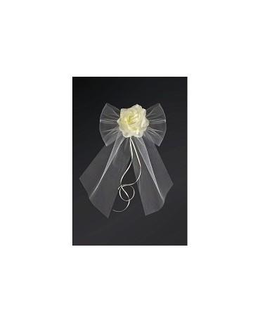 Dekor. na kľučky-kvet - krémový 2ks