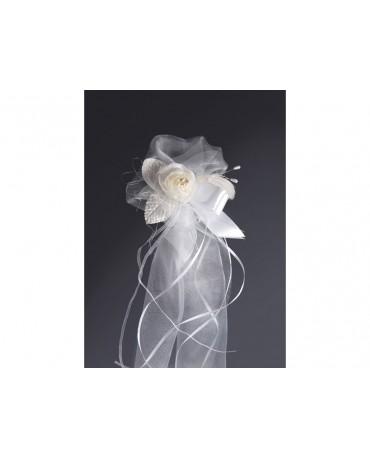 Ozdoba na stoličky/lavice - biely kvet 2ks