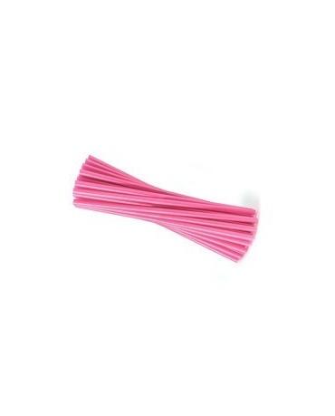 Slamky - ružové 25 cm - 20ks