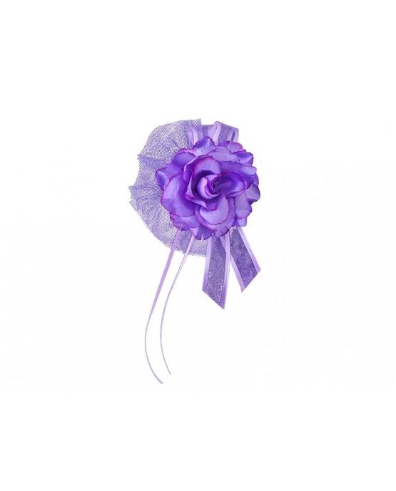 Dekor. na kľučky-kvet - fialový 4ks