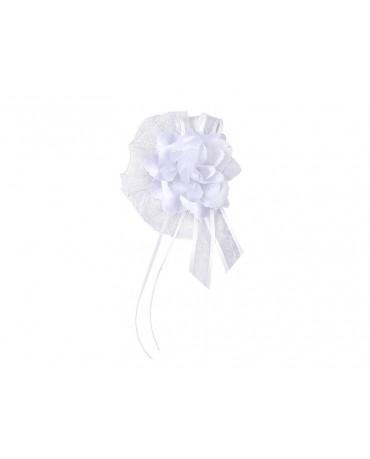 Dekor. na kľučky-kvet - biely 4ks