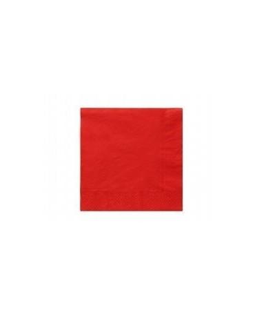 Servítky červené- 3 vrstvové 33cm 20ks
