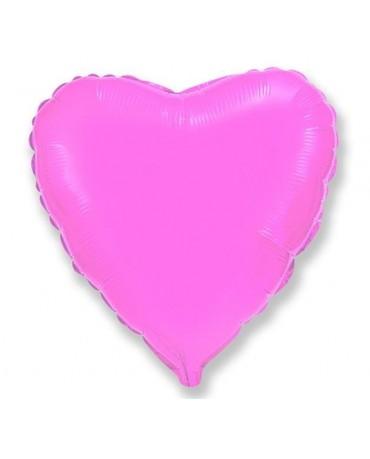 Fóliový balón srdce- ružové 46cm