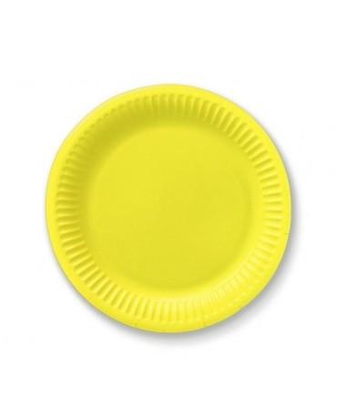 Tanieriky - žlté18 cm - 6 ks