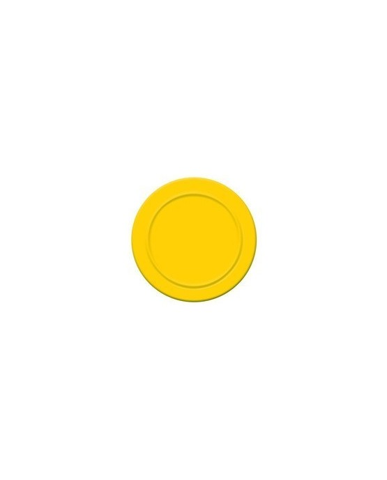 Tanieriky - žlté 18 cm - 6 ks