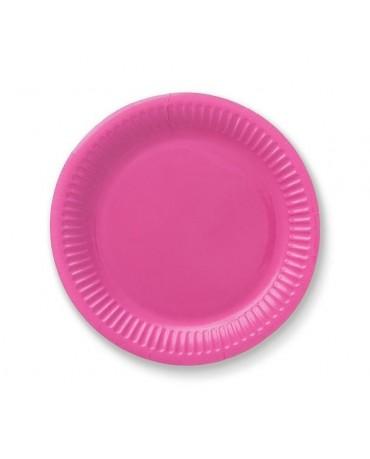 Tanieriky - jasnoružové18cm 6ks