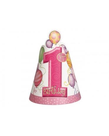 Klobúčik číslo 1 - ružové balóniky 8ks