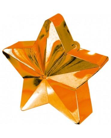 Závažie na balóny -hviezda-oranžová