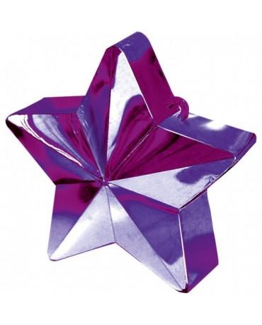 Závažie na balóny -hviezda-fialová