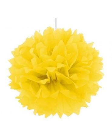 Pompón - žltý 40cm 1ks