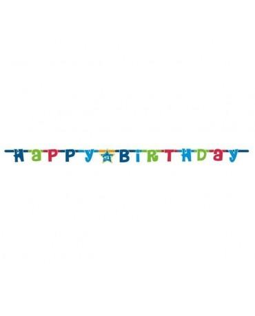 Girlanda Happy Birthday 1,8m