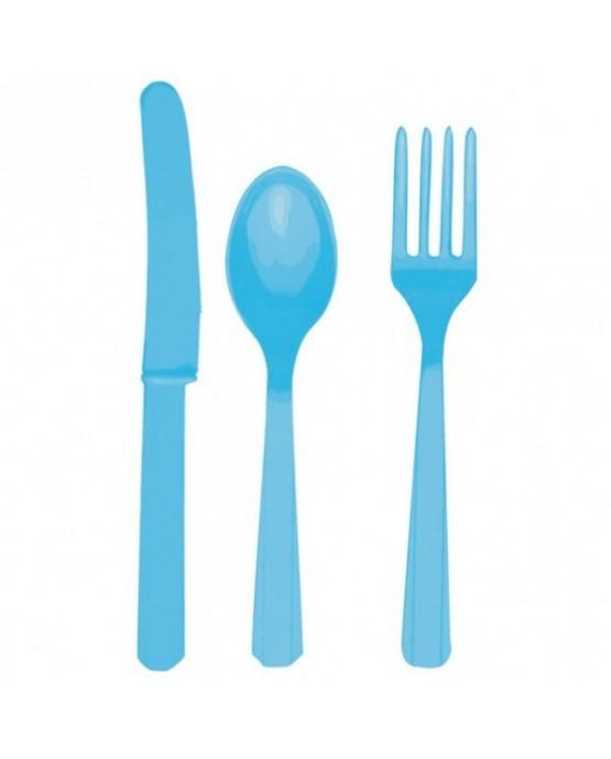 Plastové príbory -modré 24ks