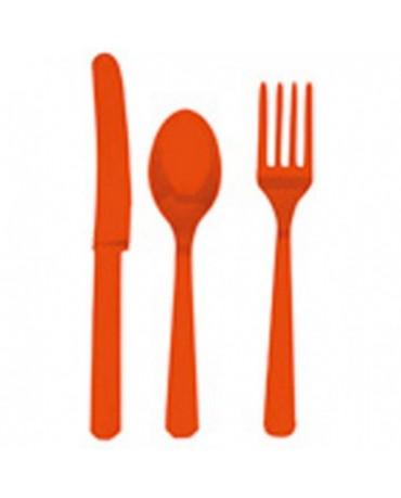 Plastové príbory -oranžové 24ks