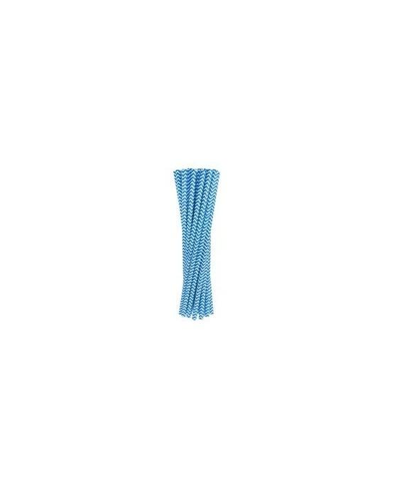 Slamky - modré vlnky 24ks