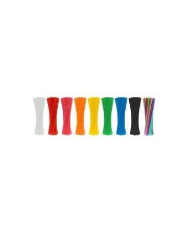 Slamky -tmavoružové 21 cm - 40ks