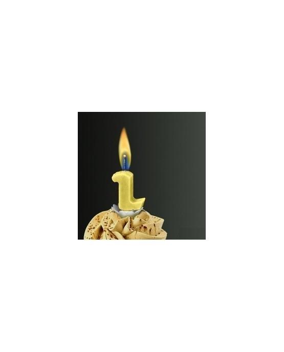 Sviečka - číslo 2 -žltý plameň