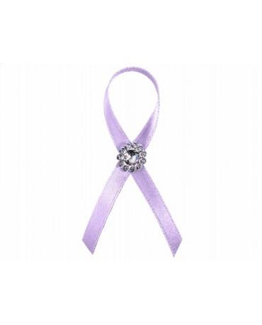 Stužky pre svad. hostí - fialové s dekoráciou 25ks