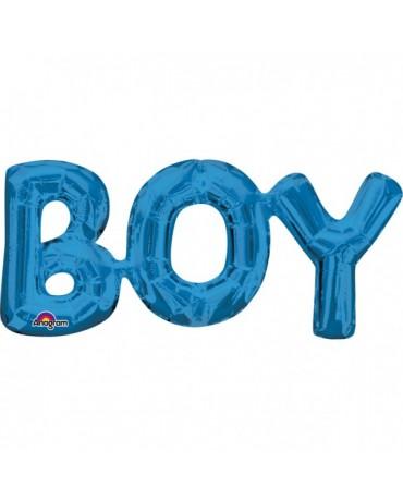 Fóliový balón BOY modrý 50x22cm