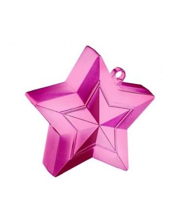 Závažie na balóny -hviezda-ružová
