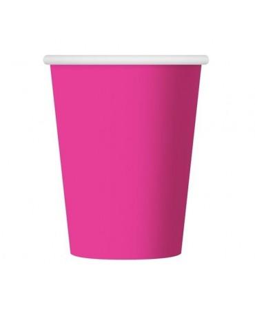 Poháre - ružové 270 ml 6ks