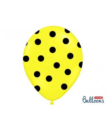 Latexové balóny  žlté -čierne bodky 30cm 10ks