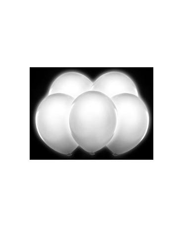 Latexové balóny svietiace - biele 30cm 5ks