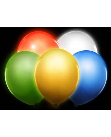 Latexové balóny svietiace - mix 30cm 5ks