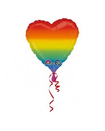 Fóliový balón srdce- farebné 33x86cm