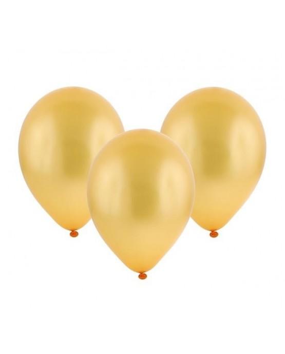 "Latexové balóny metalické- lososové 11"" 10ks"