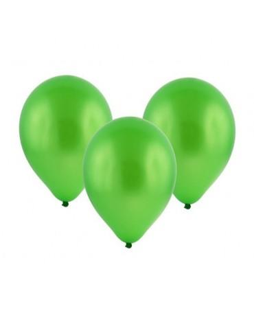 "Latexové balóny metalické- zelené 11"" 10ks"