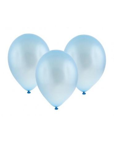 """Latexové balóny metalické- bledomodré 11"""" 10ks"""