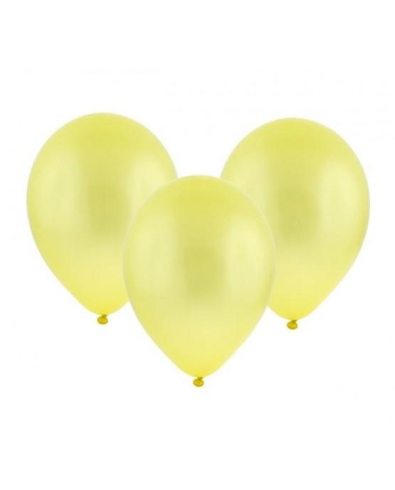 """Latexové balóny metalické-žlté 11"""" 10ks"""