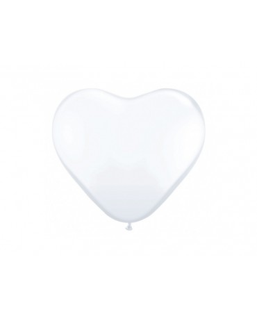"""Latexové balóny srdce- biele 10"""" 10ks"""