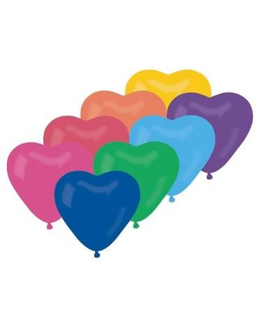 """Latexové balóny srdce- mix 10"""" 10ks"""