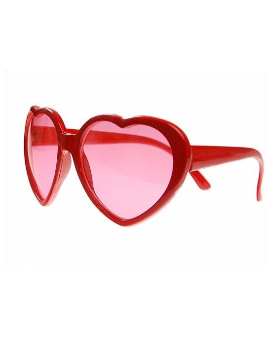 Okuliare - červené srdcia