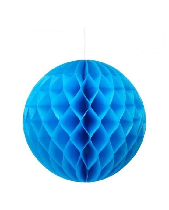 Papierová guľa- modrá 30cm